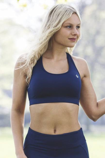Workout Empire Regalia Sapphire Pintuck Sports Bra