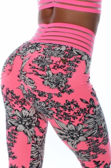 Neon Novella Pink (Cute Booty) Lifestyle Leggings