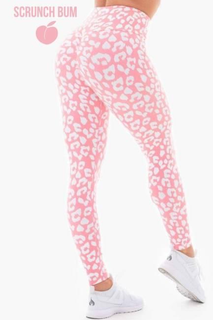 Ryderwear Leggings - Instinct Scrunch Bum Pink Leopard