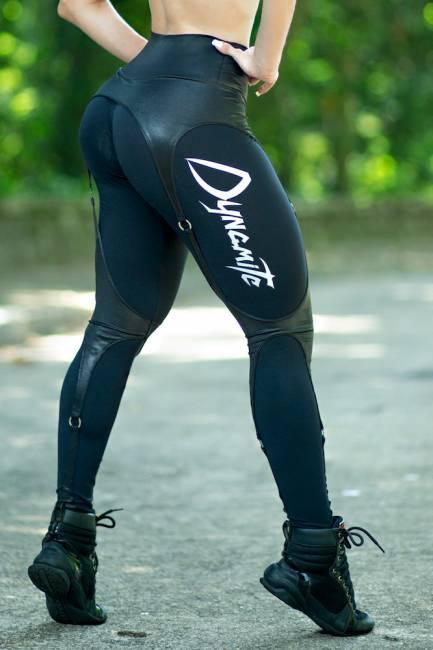 Dynamite Leggings Black Garter Belt