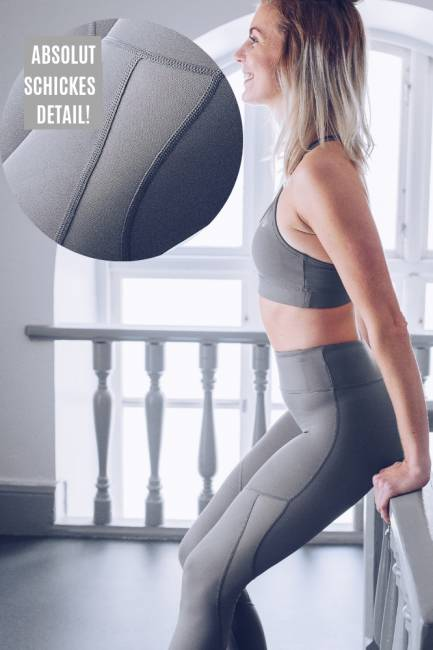 Workout Empire Tech Tights Silver