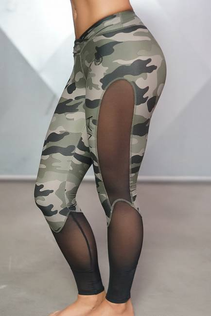 Legging Body Engineers Lotus Army Green Camo