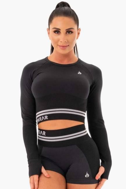 Ryderwear Freestyle Seamless Longsleeve Crop - Black