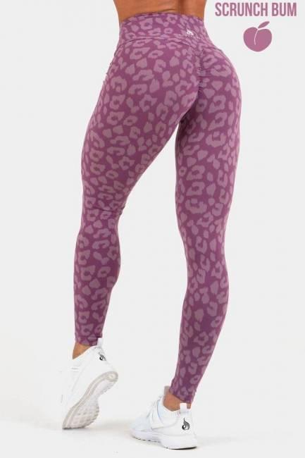 Ryderwear Leggings - Instinct Scrunch Bum Leopard Purple