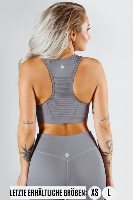 Workout Empire Regalia Sports Bra Silver
