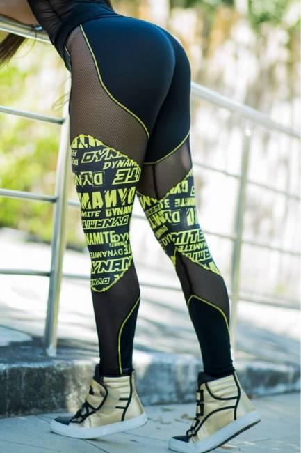 Dynamite Leggings Black Netz