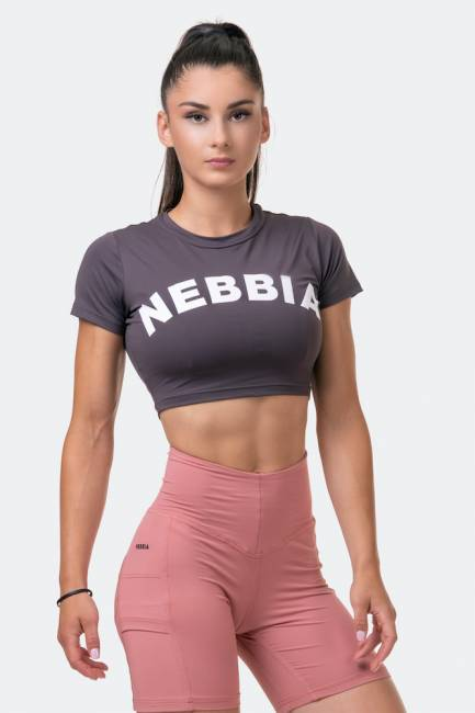 NEBBIA Short Sleeve Sporty Crop-Top 584