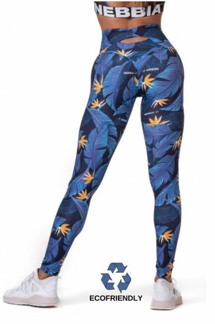 NEBBIA Fitness Leggings Ocean Power High Waist - Blue