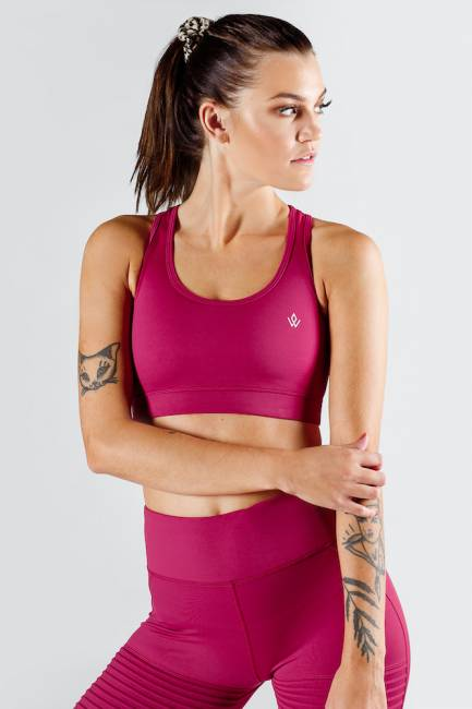 Workout Empire Regalia Crimson Pintuck Sports Bra
