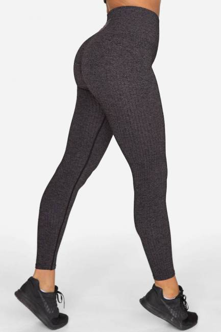 Gavelo Leggings Ribbed Plum Melange