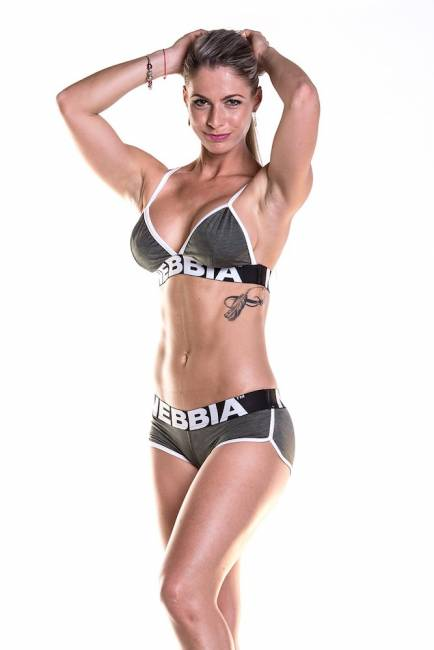 NEBBIA Fitness Top Khaki