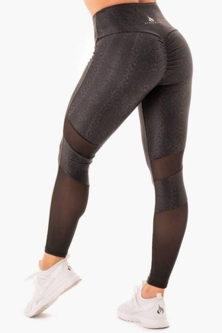Ryderwear NEM X RW Scrunch Bum Leggings - Black Snake