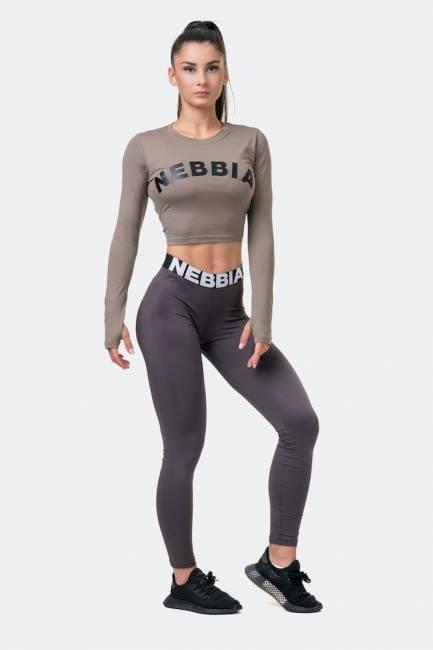 NEBBIA Squat Hero Scrunch Butt Leggings - Marrom