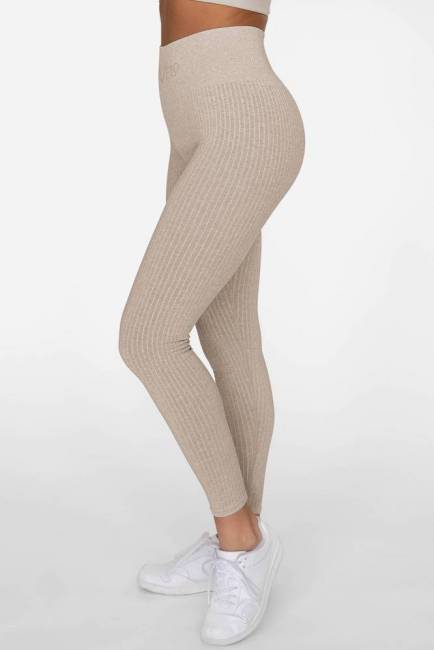 Gavelo Leggings Ribbed Sand Melange