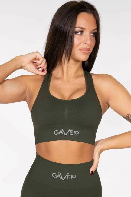 Gavelo Seamless Booster Forest Green Sports BH